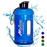 Sports Water Bottle 2.2L – Large Gym Fitness Bottle– XXL 2 Liter Drinking Water Jug – Hot Cold Drinks – Dishwasher Safe – Leakfroof (Blue)