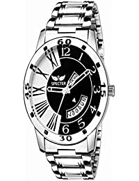 Spectre Stylish Stainless Steel Black And White Dial With Day And Date Display Premium Wrist Watch For Mens And...