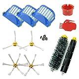 ASP-ROBOT® PRO Recambios Roomba serie 600 610 620 621 630 650 651 655 660 661 PET. Filtro, cepillo lateral, rodillo central y accesorios. Pack repuestos. KIT recambio nuevo.