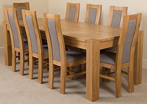 Kuba Chunky 220cm Kitchen Solid Oak Dining Table 8 Solid Oak