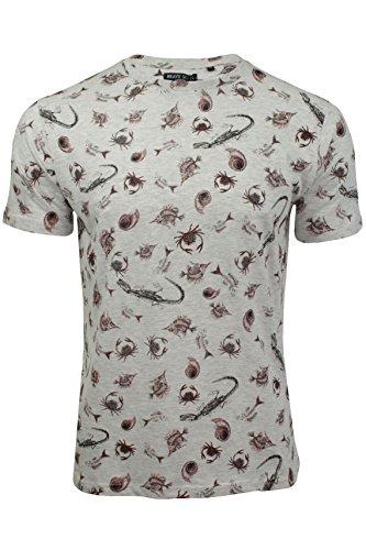 Herren T-Shirt von Brave Soul langärmlig Naturfarben