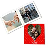 Clixicle Customized Flip Photo Book Album - This Is Love Red, 20 Pages, 6In X 6In