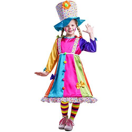 Imagen de dress up america  disfraz de payasa con lunares para niños, multicolor, talla xs, 4 años 852 t4