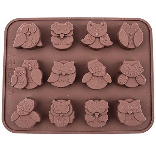 Wakehurst 12 Eulen Backformen, Pralinenform, Schokoladenform, Silikonform für Kuchen, Brot, Süßigkeiten
