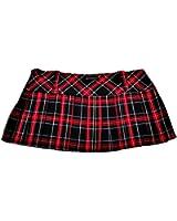 Tartan Mini Skirt 12in length (30.5cm) by Crazy Chick (12, RED BLACK GREEN YELLOW BLUE)