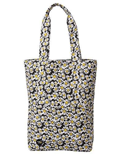 Mi-Pac Tote Bag Bolso Bandolera, 40 cm, 17.5 Litros, DaisyCrazy Blk