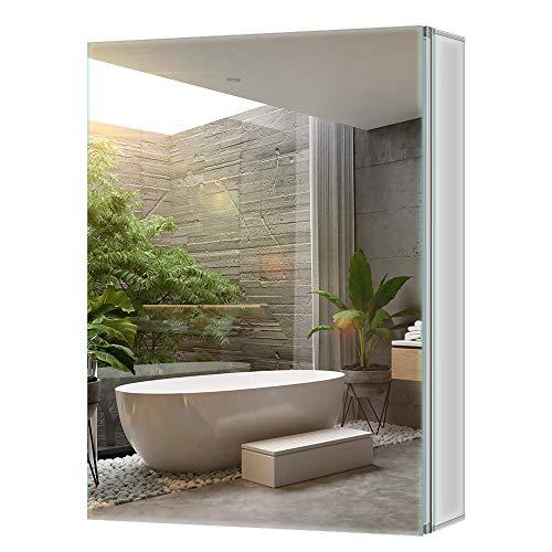 Tokvon Limerence Muebles de baño Mueble de Espejo de Aluminio con Grandes estantes Ajustables Storge...