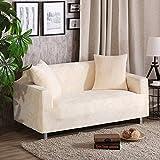 Elastizität Anti-rutsch Sofabezug mit kissenhüllen, Plüsch Möbel Protector Sofa-Überwürfe Sofabezug Hund Vintage Leder Sofa abdecken-Beige Sofa