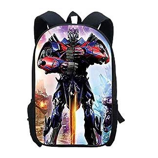 WSED Mochila para niños Transformers Mochila Anime Cartoon Optimus Prime Schoolbag Computer Bag Bolsa De Viaje Impermeable