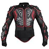 Partiss Moto Cross Enduro Motorrad Protektorenjacke Zum Skilaufen Zum Motorrad Fahren Brustprotektor Protektor Jacke,XL,Red