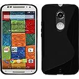Coque en Silicone pour Motorola Moto X 2014 2. Gen. - S-Style noir - Cover PhoneNatic Cubierta + films de protection