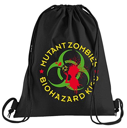 Kostüm Tasche Biohazard - T-Shirt People Mutant Zombie Biohazard Sportbeutel - Bedruckter Beutel - Eine schöne Sport-Tasche Beutel mit Kordeln