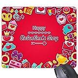 CFHJN Home Rosso Buon San Valentino con Regalo Presente Cuore Bow Anelli Fragolina Love Letter Cupcake Ciambelle