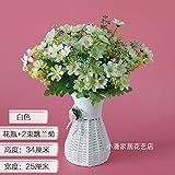 XHZ Emulation Blume verpackt getrocknete Blüte kleine Topfpflanzen Seide Blumen - Gestaltung von Blumen in Ihrem Wohnzimmer ist wunderschön mit Blumen auf der Schaukel eingerichtet. ThatBottle+2 die Gänseblümchen weiß Überbrückungskabelbaum Künstliche Blumen Fake Blumen für Hochzeit Blumensträuße für Hochzeit Home Garten Dekoration