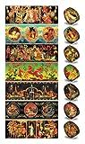 Ukrainisches-Kunsthandwerk, Ostereier Schrumpffolie. Palech. Nr.12 reicht für 7 Eier