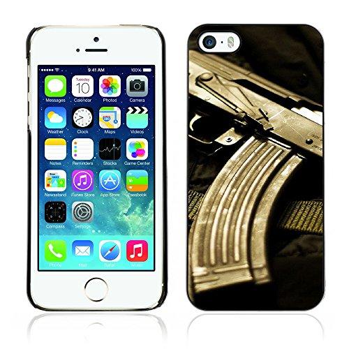 Graphic4You Silber Desert Eagle Pistole Feuerwaffe Design Harte Hülle Case Tasche Schutzhülle für Apple iPhone 5 und 5S Design #2