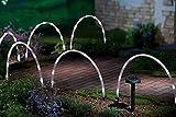 Garten Mile 6x LED Bogen Rohr Stab Lichter Solar betrieben Weihnachten Fee Rand oder Weg Beleuchtung, einzigartig Bright Weihnachtsbeleuchtung Außen Beleuchtung Einfahrt Kennzeichnung