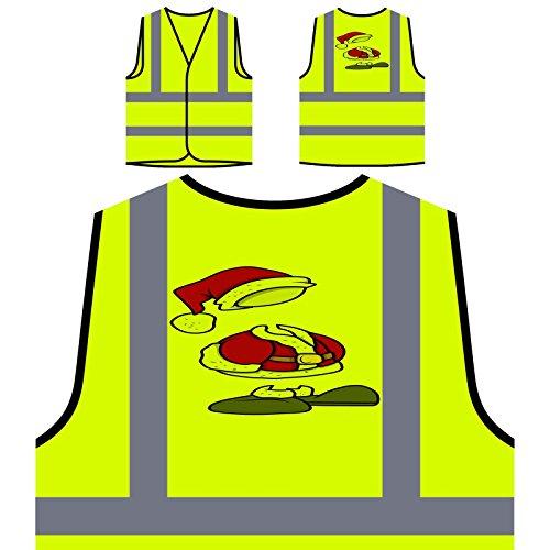 stüm Personalisierte High Visibility Gelbe Sicherheitsjacke Weste p439v ()