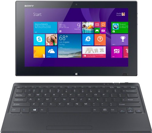 Sony VAIO Tap SVT1122I4EB 29,5 cm (11,6 Zoll Touch) Convertible Tablet-PC (Intel Core i5-4210Y, 1,5Ghz, 8GB RAM, 128GB SSD, Intel HD 4200, inkl. Stift VGPSTD2, Win 8.1 Pro) schwarz (Sony Notebook-i5)