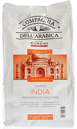 Corsini Caffè Compagnia Dell'Arabica - India Monsooned Malabar, Bohne, 2er Pack (2 x 250 g)