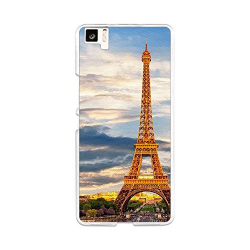 Tumundosmartphone Funda Gel TPU para BQ AQUARIS M5 diseño Paris Dibujos