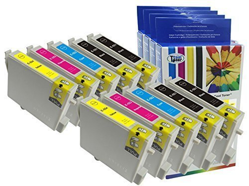 Preisvergleich Produktbild 10 Tintenpatrone kompatibel fuer T0551 & T0556 Multipack (4BK 2C 2M 2Y) fuer Epson Stylus Photo RX420 RX425 RX520 R240 R245 mit CHIP