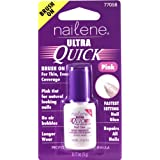 Nailene Ultra Quick Pink Brush On Nail Glue, 0.17 fl oz by Nailene