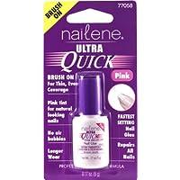 Nailene Ultra Quick Pink Brush On Nail Glue, 0.17 fl oz by Nailene