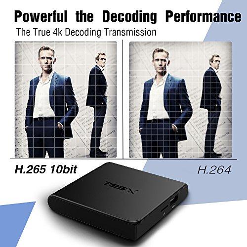 Android 6.0 TV Box,2017 Modell GooBang Doo T95X Streaming Media Player Amlogic S905X 64 Bits mit vollständig beladen KODI, Apps - 8