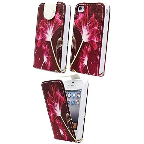 Nwnk13Apple iPhone 4/4G/4S impresión piel sintética Vertical funda con tapa Cover con marco interior de gel, incluye lápiz capacitivo, protector de pantalla y paño de pulido
