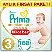 Prima Premium Care Külot Bebek Bezi 3 Beden Midi İkiz Paket 168 Adet