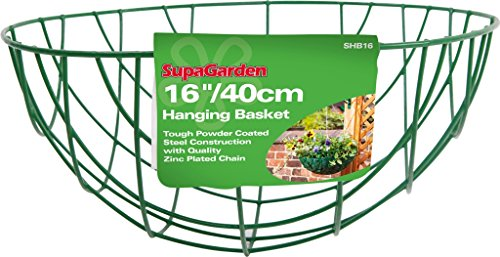 SupaGarden Abdeckung für Blumenampeln 40 cm/40.64 cm, grün