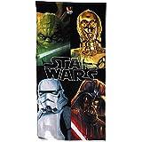 Disney Star Wars Toalla 70x 140cm Toalla de playa Plus Pliego de pegatinas