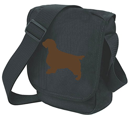 Bag Pixie - Borsa a tracolla unisex adulti Brown Dog on Black Bag