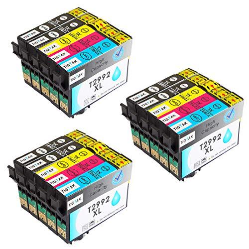 29XL Druckerpatronen Ersatz für Epson 29 Patronen Kompatibel mit Epson Expression Home XP455 XP-332 XP-345 XP-445 XP-245 XP-345 XP-235 XP-435 XP-352 XP255 XP-257 XP-330 XP-352 XP-355 XP-452,TIGTAK