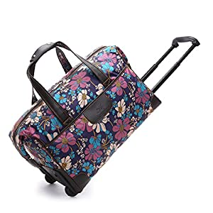 Women Travel Holdall Bags Weekend Wheeled Trolley Handbag Carry-on Bag Ladies Hand Luggage