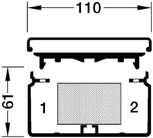 Preisvergleich Produktbild Tehalit Kanal FB 60110 cws