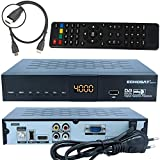 ECHOSAT 20500 HD SAT SATELLITEN DIGITALER RECEIVER - FTA (HDTV, DVB-S /DVB-S2, HDMI,AV, 2x USB 2.0, Full HD 1080p,Digital Audio Out) [vorprogrammiert für Astra Hotbird Türksat ] inkl. HDMI Kabel - schwarz