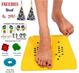 #9: RELIEF Acupressure Mat with Magnets Pyramids for Pain Relief and Total Health Size 12x12.5 Inches with FREE Power Ball, Power Thumb, Su-Jok Ring & Reflexology Chart for Hand & Feet Worth RS. 176/-