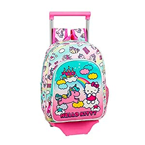 Hello Kitty Candy Unicorns Mochila pequeña Ruedas, Carro, Trolley