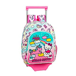 51jCRNCkeoL. SS324  - Hello Kitty Candy Unicorns Mochila pequeña Ruedas, Carro, Trolley