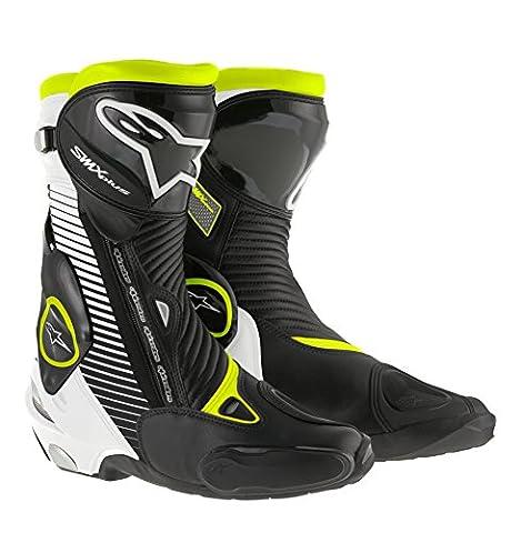 Alpinestars - Motorcycle boots - Alpinestars Smx Plus Black White Yellow Fluo - 48