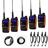 Baofeng GT-3TP + Cable 5x GT-3TP Mark III 8W 2m/70cm Uhf/Vhf Dual Band, walkie talkie portatile, per amatori