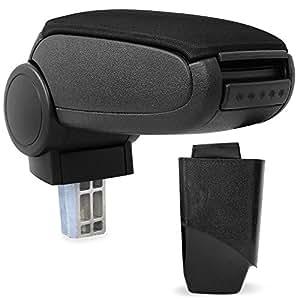 car armrest perfekt fit centre console inkl storage box textil cover black. Black Bedroom Furniture Sets. Home Design Ideas