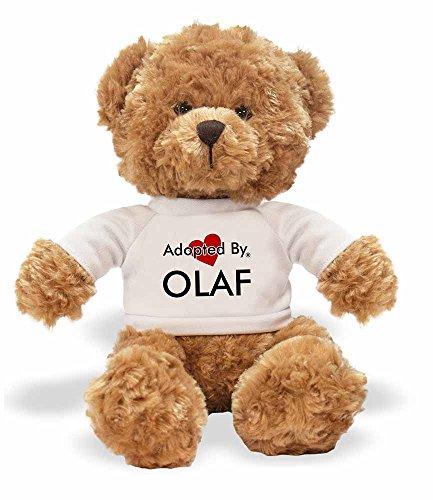 Teddybären, tragen EIN personalisiertem Namen T-Shirt ()