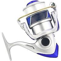 Alftek Carrete giratorio para pesca de cebo de velocidad estándar, pesca, ligero, ultra suave, plata, 7000