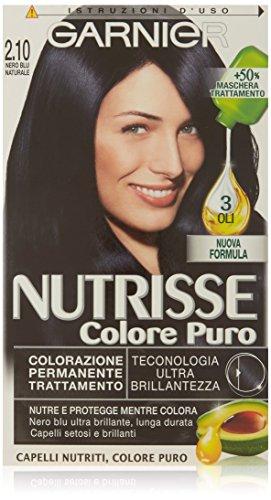 Garnier Nutrisse Colore Puro Colorazione Permanente Nutritiva, 2.1 Nero Blu