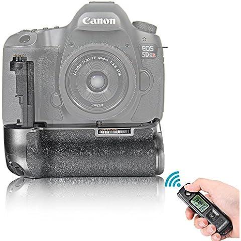 Neewer® LCD 2.4GHz Inalámbrico Control Remoto BE-E11 Vertical Batería Empuñadura de Reemplazo Funciona con LP-E6 Batería o 6 Piezas de AA pilas para Canon 5D Mark III / 5DS / 5DSR Cámaras