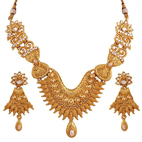 Heavy Bridal Jewelry Set  available at amazon for Rs.399