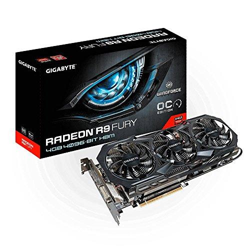 Gigabyte Radeon R9 FURY 4GB AMD Radeon R9 Fury 4GB - Tarjeta gráfica (Activo, ATX, AMD, Radeon R9 Fury, High Bandwidth Memory (HBM), PCI Express 3.0)